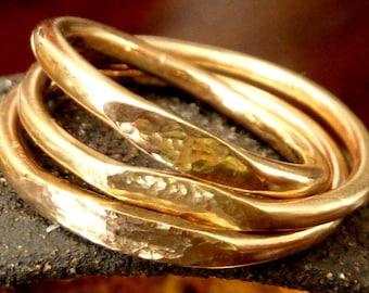 Signet Ring - 14k Gold Filled Ring - Graduation Ring - Anniversary Ring - Handmade Ring