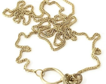 """14k Gold Chain Necklace - 16"""" 18"""" 20"""" Long Chain Choice - Designer Clasp - Chain for Charms"""