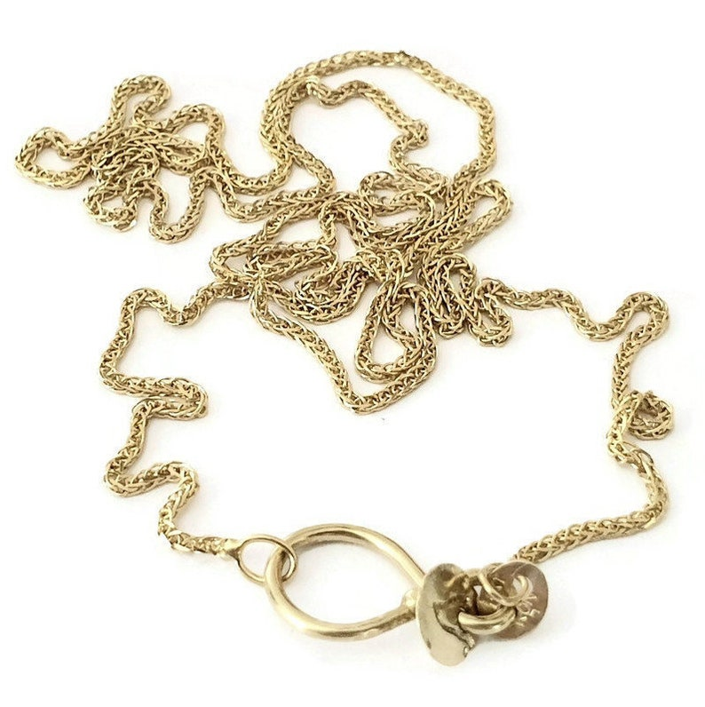 14k Gold Chain Necklace  16 18 20 Long image 1
