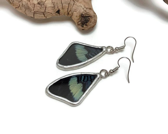Real butterfly jewelry, gifts for mom, Butterfly earrings, Real butterfly wing, unique jewelry, insect jewelry, butterfly taxidermy, gifts