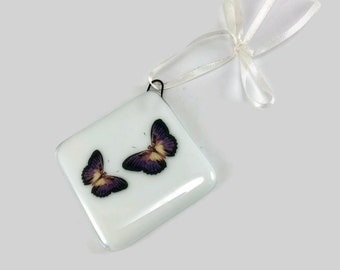 Fused glass, ornament, Butterfly, glass, handmade, home decor,handmade glass ornament, handmade fused glass, ornament, Christmas ornament