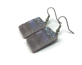 Glass earrings, dichroic glass earrings, fused glassJewelry, glass , glass jewelry, dangle earrings, dichroic glass jewelry, drop earrings