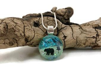 Glass Jewelry, Dichroic glass pendant, glass necklace, Glass Pendant, Fused Glass Jewelry, handmade dichroic glass, fused glass necklace