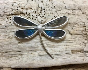 Real butterfly jewelry, dragonfly necklace, real dragonfly jewelry, real butterfly wing, dragonfly pendant, insect jewelry, glass pendant