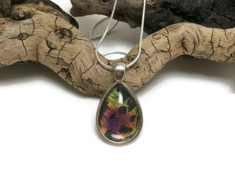 Real butterfly jewelry, Real Butterfly Wing, butterfly necklace, butterfly pendant, Insect jewelry, insect pendant, glass jewelry, butterfly