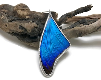 Butterfly pendant, real butterfly, insect jewelry, Real butterfly jewelry, Real Butterfly Wing Necklace, Blue Morpho Pendant, butterfly