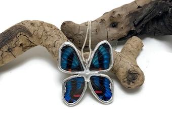 butterfly pendant, butterfly jewelry, handmade butterfly jewelry, real butterfly pendant, Real Butterfly Wing Necklace, butterfly Pendant