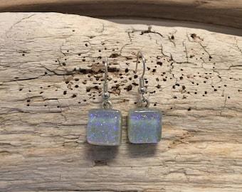Dichroic glass jewelry, dichroic glass earrings, glass earrings, fused glass jewelry, fused glass earrings, Glass jewelry, glass