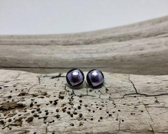 Glass studs, fused glass earrings, dichroic glass studs, glass studs, glass earrings, earrings, glass,  Stud earrings