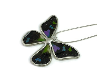Real Butterfly jewelry, real butterfly wing, real butterfly pendant, butterfly necklace, insect jewelry, insect Pendant, insect necklace
