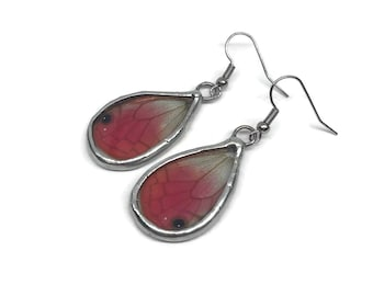 Real butterfly Jewelry, real Butterfly earrings, glass earrings, insect jewelry, real butterfly Wing, insect earrings, glass jewelry, glass