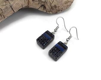 dichroic Glass earrings, dangle earrings, glass earring, drop earrings, fused glass earring, glass jewelry, dichroic glass jewelry, glass