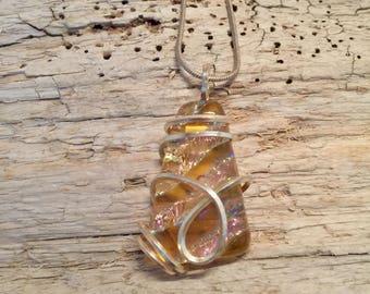 Glass Jewelry, Dichroic glass necklace, glass necklace, Glass Pendant, fused Glass Jewelry, dichroic glass pendant, fused glass pendant