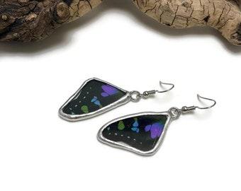 Butterfly earrings, glass earrings, stained glass, glass jewelry, insect jewelry, handmade butterfly Earrings, butterfly jewelry, butterfly