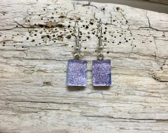 Fused glass jewelry, Dichroic glass jewelry, fused glass earrings, glass earrings, dichroic glass earrings, glasd earrings, Dangle earrings