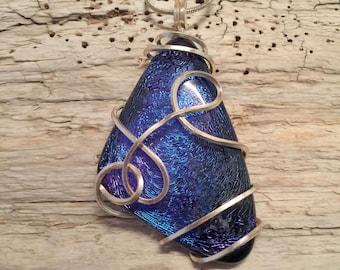 Fused Glass jewelry, Dichroic glass jewelry , Dichroic Glass Pendant, Fused Glass Necklace, Dichroic glass Necklace, Fused Glass pendant