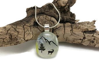 glass jewelry, Dichroic Glass Pendant, glass pendant, Fused Glass Jewelry, Fused glass pendant, glass Necklace, Dichroic Glass, glass