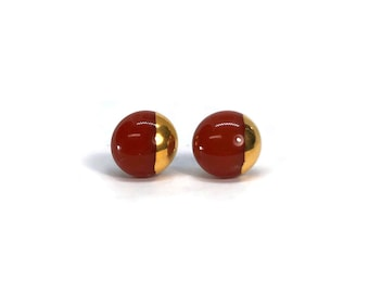 Dichroic Glass studs, fused glass earrings, fused glass, jewelry dichroic glass Jewelry , glass studs, Stud earrings, minimalist Jewelry