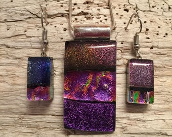 glass jewelry, dichroic glass necklace, Dichroic glass pendant, dichroic glass pendant, fused glass jewelry, fused glass pendant, glass
