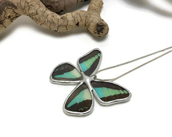 Real butterfly Jewelry, butterfly pendant, insect jewelry, Real butterfly necklace, glass pendant, glass pendant, real butterfly wing