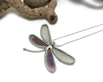 Real insect jewelry, dragonfly pendant, butterfly necklace, insect pendant, dragonfly wing Necklace, glass pendant, insect necklace, glass