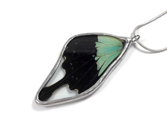 Butterfly Necklace, real butterfly jewelry, insect pendant, butterfly Pendant, real butterfly wing, insect jewelry, insect necklace, glass