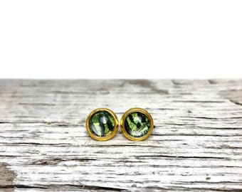 Glass studs, real butterfly jewelry, butterfly studs, stud earrings, glass, real butterfly earrings, button earrings, butterfly, jewelry