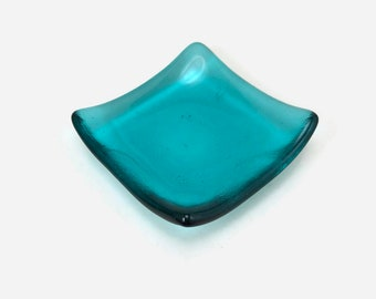 Fused glass plate, glass dish, glass decor, glass plate, home decor, jewelry dish, candy dish, spoonrest, dish, fused glass dish, glass