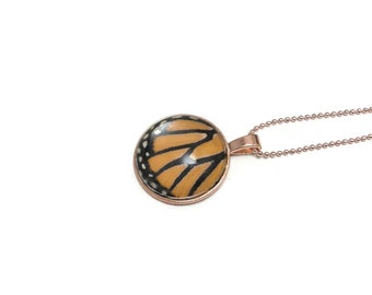 Real butterfly jewelry, Real butterfly pendant, Real Butterfly Necklace, monarch butterfly Pendant, real insect jewelry, glass necklace