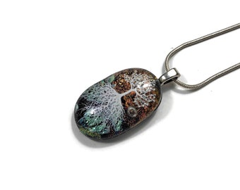 Dichroic Glass jewelry, fused glass necklace, dichroic glass pendant, fused glass jewelry, dichroic glass necklace, fused glass pendant