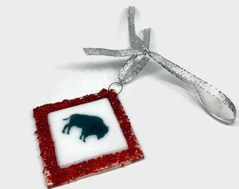 glass ornament, glass art, Christmas ornament,  home decor, Christmas decoration, fused glass ornament, Christmas ornament, sun catcher
