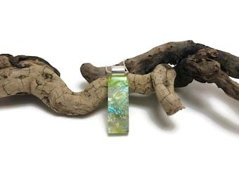 glass jewelry, Dichroic Glass Pendant, glass pendant, Fused Glass Jewelry, Fused glass pendant, glass Necklace, Dichroic Glass, glass
