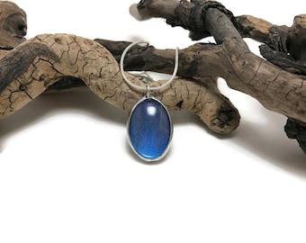Butterfly jewelry, butterfly Wing Necklace, handmade, glass, Morpho butterfly, butterfly Pendant, butterfly wing pendant, butterfly necklace