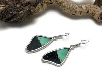 Jewelry, Butterfly earrings, glass earrings, stained glass, glass, insect jewelry, handmade butterfly Earrings, butterfly jewelry, butterfly