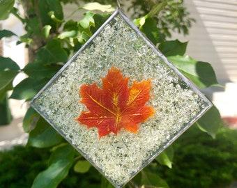 glass art, glass sun catcher, home decor, fused glass, Fused Glass art, fused glass sun catcher, window art, fall, glass, ornament