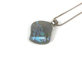 Dichroic Glass Jewelry, Dichroic glass pendant, dichroic glass necklace, fused glass necklace, fused Glass Jewelry, fused glass pendant