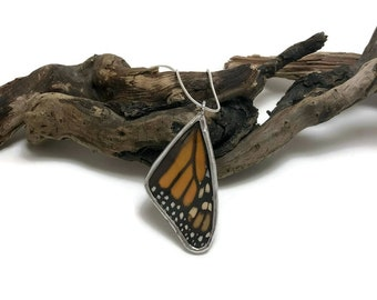 Real Butterfly Necklace, monarch Pendant, real butterly jewelry, handmade butterfly jewelry, monarch butterfly, butterfly, real butterfly