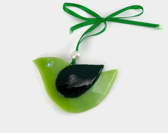 Fused glass, handmade fused glass ornament, handmade fused glass, Christmas, glass Christmas ornament, Christmas ornament, Dichroic glass
