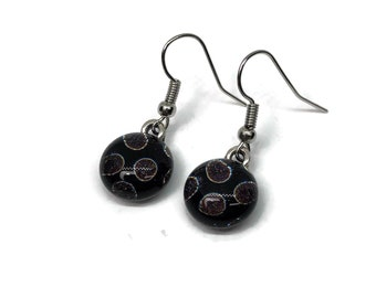Dichroic glass jewelry, fused glass earrings, dichroic glass earrings, fused glass jewelry, Glass earrings, glass Jewelry, Glass