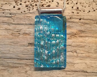 Dichroic glass pendant, glass necklace, dichroic glass jewelry, fused glass, dichroic glass, glass jewerly, glass, glass pendant