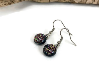 glass jewelry, Dichroic glass jewelry, fused glass earrings, glass earrings, dichroic glass earrings, Drop earrings, Dangle earrings