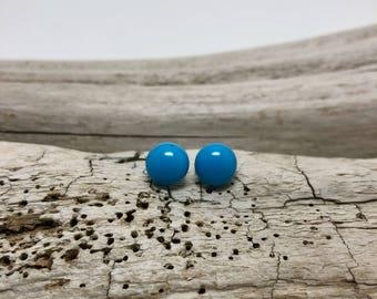 Glass earrings, stud earrings, dichroic glass earrings, glass studs, dichroic glass stud earrings, glass,  Stud earrings, fused glass studs