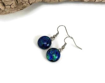 glass jewelry, Dichroic glass jewelry, fused glass earrings, glass earrings, dichroic glass earrings, Drop earrings, Dangle earrings