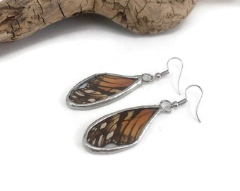 Butterfly earrings, Butterfly jewelry, glass, insect Earrings, butterfly, insect jewelry, Glass Earrings, butterfly, dangle earrings