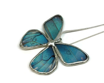 Real butterfly wing, real butterfly pendant, Real Butterfly Necklace, insect jewelry, insect pendant, Insect necklace, glass jewelry, glass
