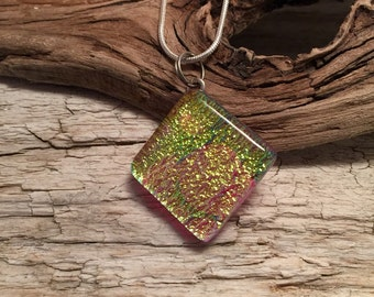 Jewelry, Dichroic glass pendant, dichroic glass, fused glass, dichroic glass, dichroic glass jewerly, glass, glass jewelry