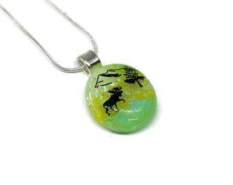 Fuse Glass Jewelry, Dichroic glass pendant, dichroic glass necklace, Glass Pendant, dichroic Glass Jewelry, fused glass pendant, glass