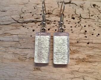 Jewelry, handmade,earrings, glass,handmade dichroic glass, fused glass, fused glass jewelry, dichroic glass, Dangle Dichroic Glass earrings