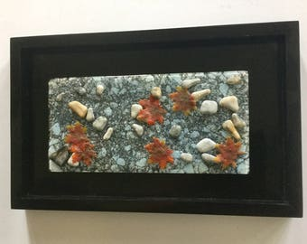 Fused glass, handmade maple leaves, leaves,fused glass wall panel, Fused Glass art, handmade fused glass panel, fused glass wall art, fall