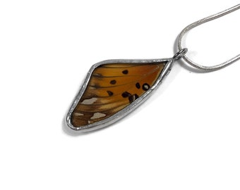 Butterfly Jewelry, real butterfly necklace, insect pendant, butterfly Pendant, real butterfly wing, insect jewelry, insect necklace, glass